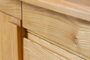 Poignees prise de main de bahut ariane 2 portes 4 tiroirs en bois massif orme