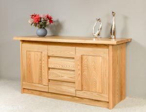 bahut ariane 2 portes 4 tiroirs en bois massif orme