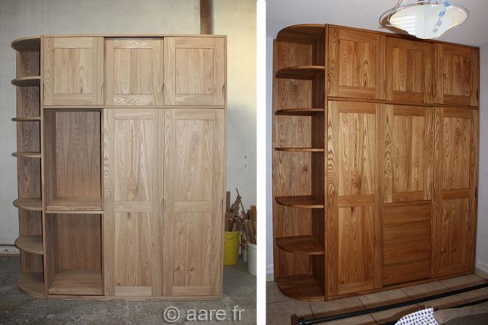 armoire porte coulissante etagere sur-mesure