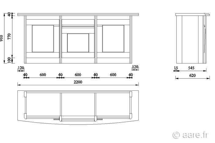 bahut ariane 3 portes 1 tiroir meubles aare. Black Bedroom Furniture Sets. Home Design Ideas