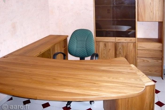 bureau angle f orme massif sur-mesure