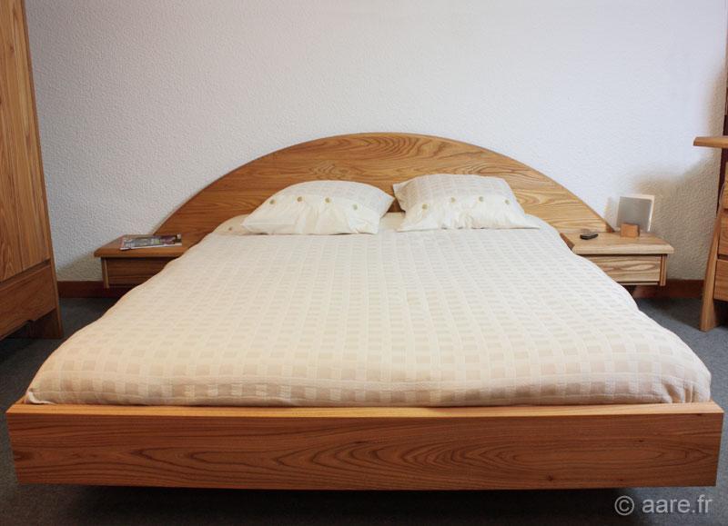 Lit artemis 140 190 meubles aare - Tete de lit avec chevets integres ...