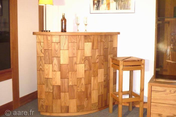 meuble bar A orme massif sur-mesure