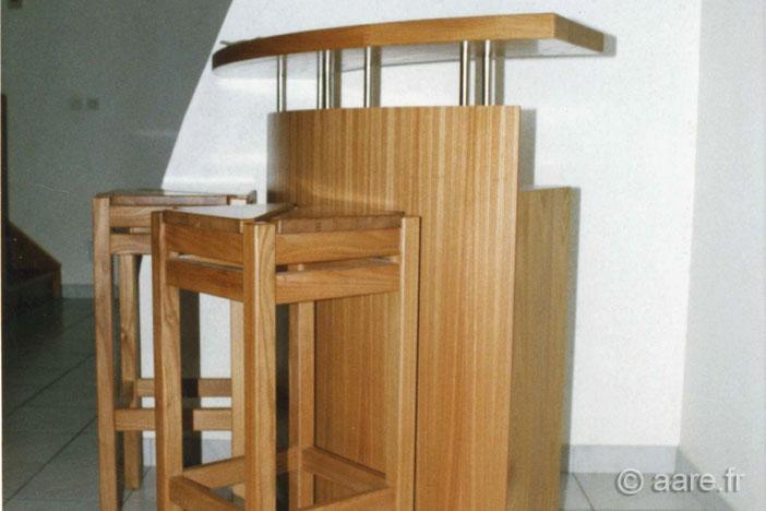 meuble bar B orme massif sur-mesure