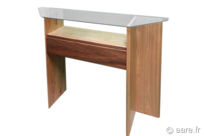 meuble console argos 1 tiroir orme massif sur-mesure