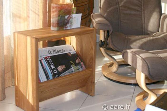 meuble porte revues orme massif
