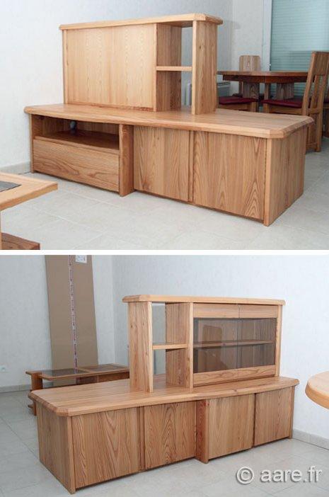 meuble separation R orme massif sur-mesure