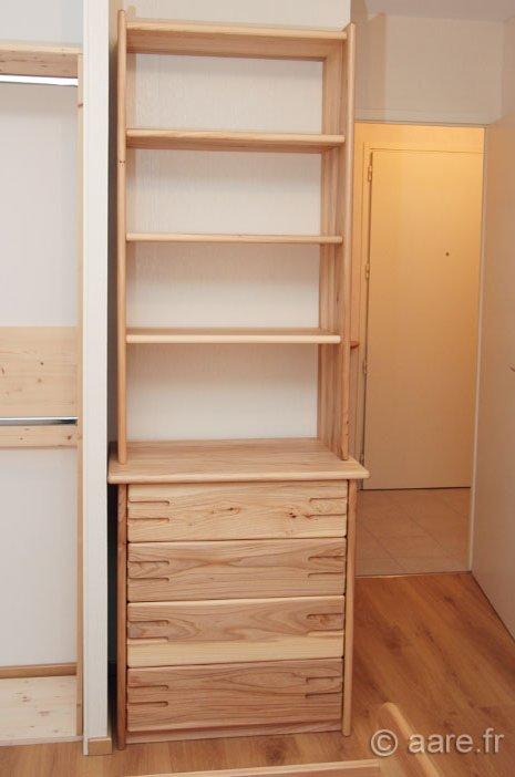 meuble complement Q orme gris massif sur-mesure