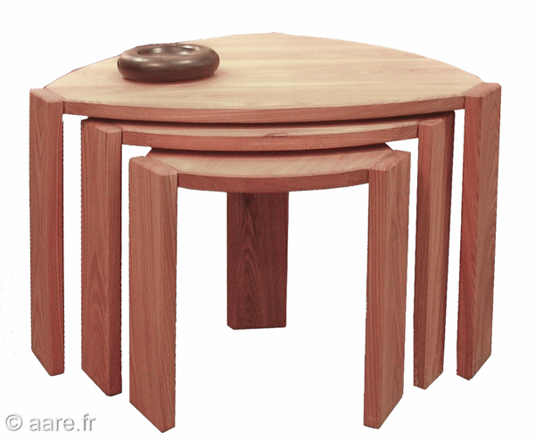 Table basse gigogne meubles aare - Tables basses modulables ...